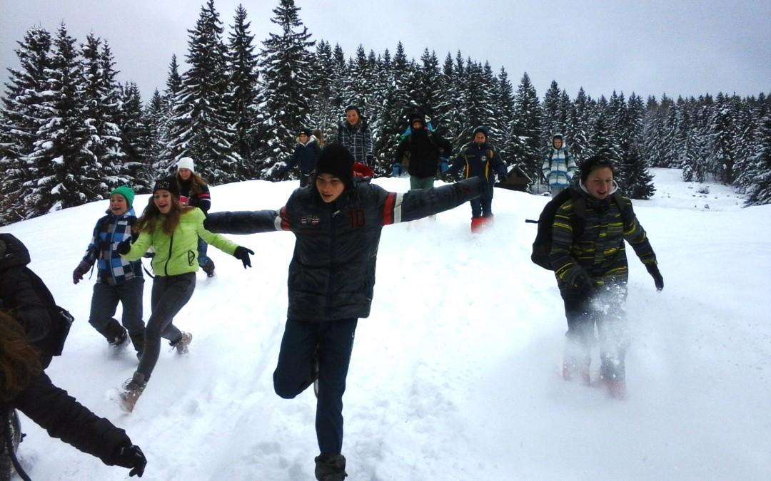 Osmošolci v šoli v naravi