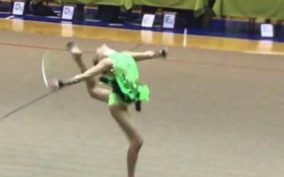 Prvo mesto na mednarodnem prvenstvu v ritmični gimnastiki
