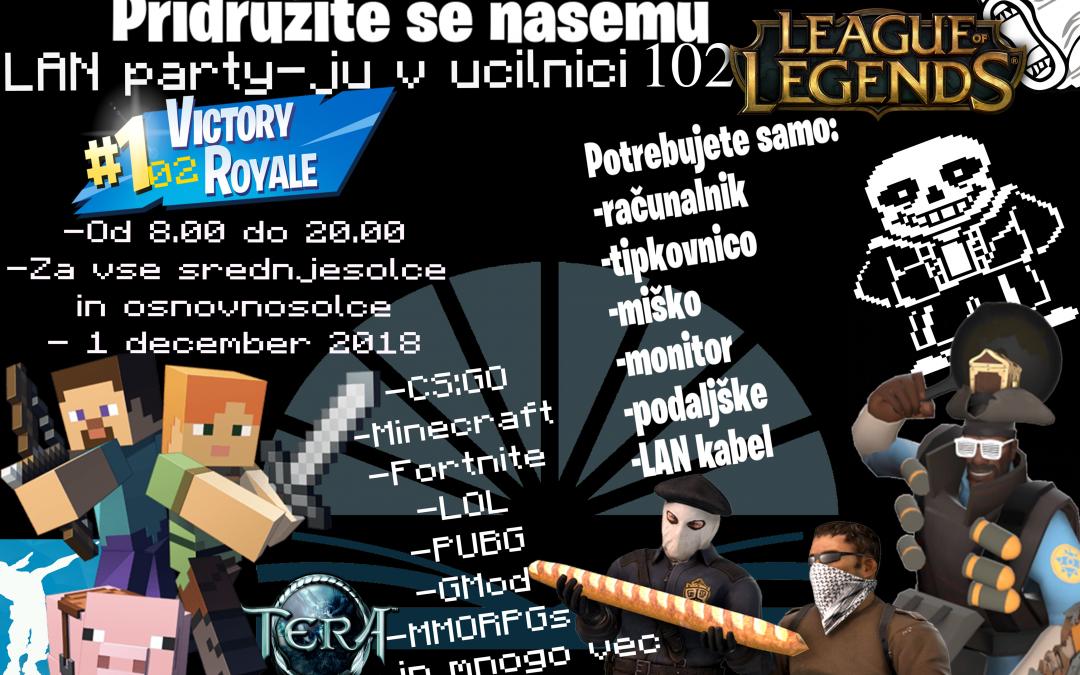 Lan party na SŠ Domžale